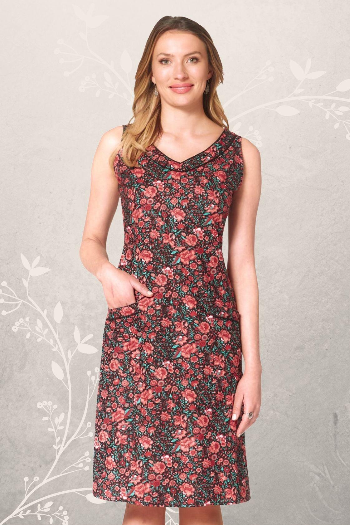 Betty Dress with pockets - Naples Print