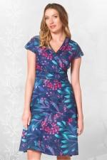 Astrid Cotton Wrap Dress - Berry Print