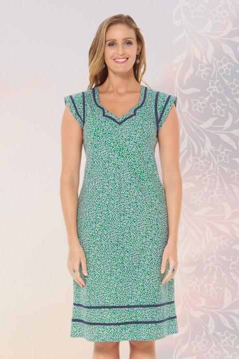 Cassy Cotton Braid Dress - Lisbon Print