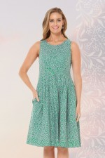 Jude Cotton 50's A-Line Dress - Lisbon Print