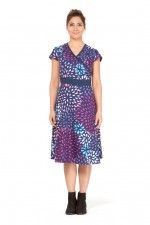 Leela Cotton Wrap Dress - Teardrop  Print