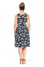 Jude Cotton 50's  A Line Dress - Kobe Print