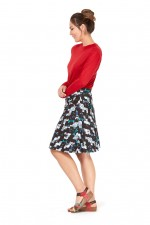 Melissa A-Line Cotton Skirt - Kobe Print