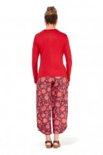 Twist  Top - Red Viscose