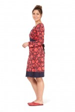 Origami Cotton Batik Print Dress