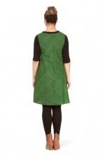 Kayla Cotton Shift Dress - Fan Print