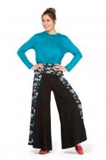 Yogi Cotton Trouser - Plain Black & Kobe print
