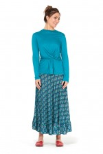 Twist Top - Teal Viscose
