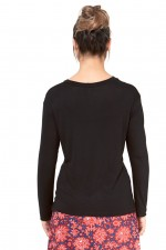 Twist Top - Black Viscose