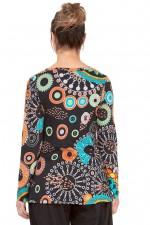 Ingrid Faux Wrap Top - Zen Print