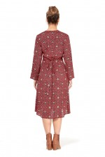 Micki  3/4 sleeve  Wrap Dress- Mandala Print