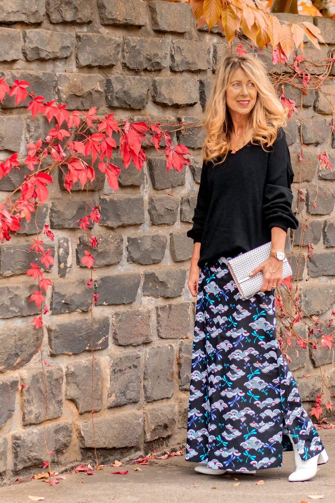 Sasha Maxi Skirt -  Kobe  Print
