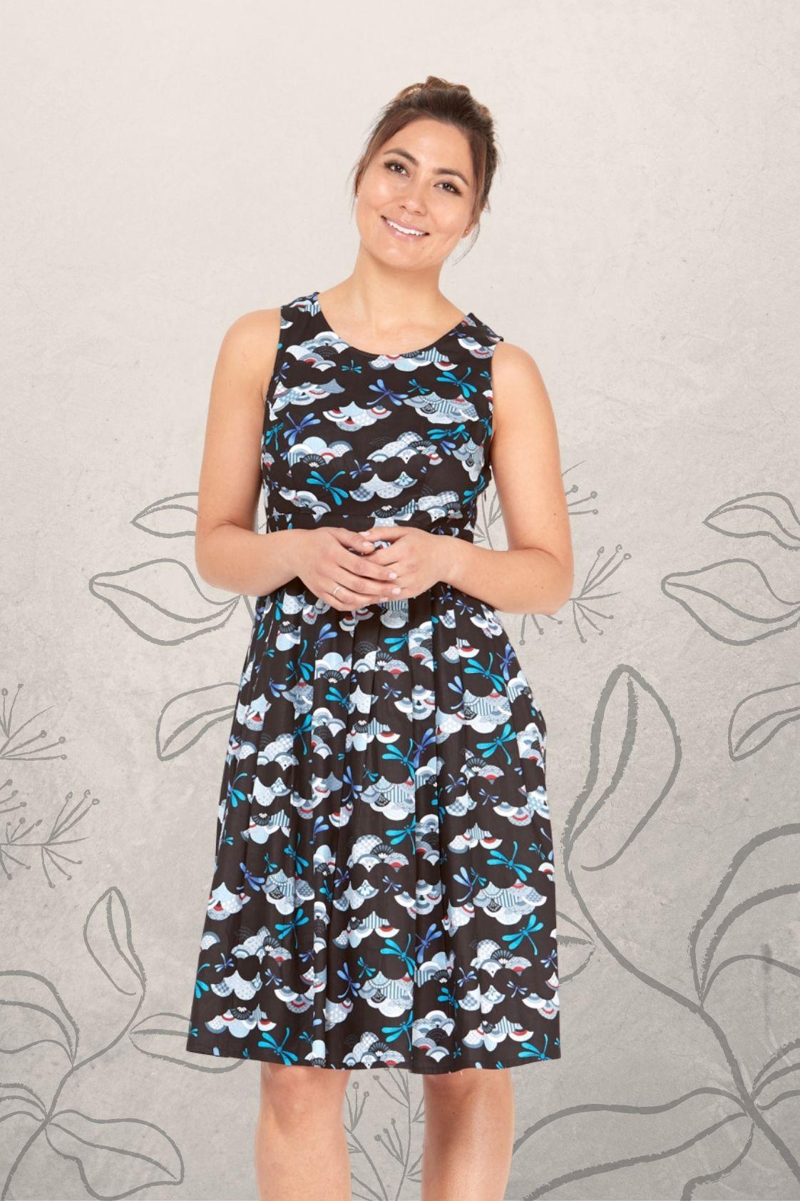 Jude Cotton 50's  A Line Dress - Kobe Print
