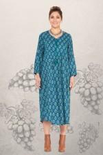 Goa Hippy L/S Dress– Grapes Print
