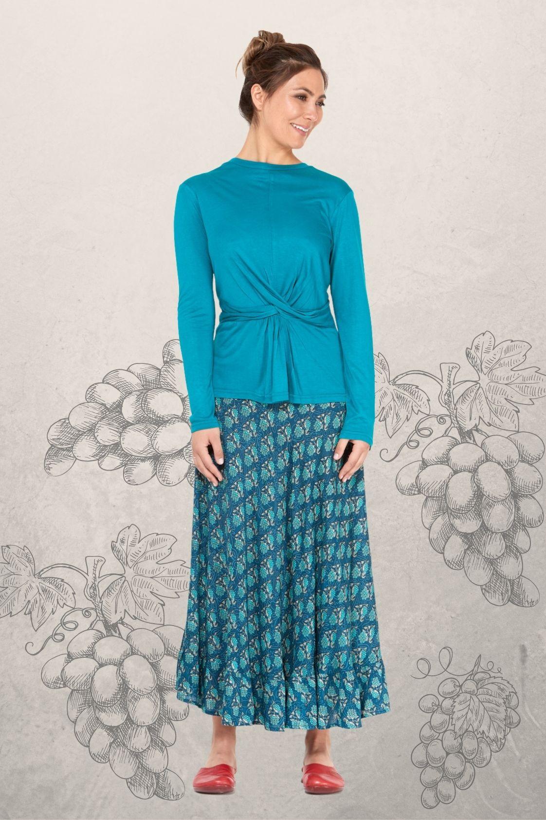 Gigi Frill Skirt - Grapes Print