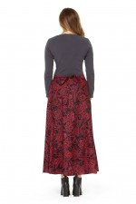 Grace Long Cotton Wrap Skirt - Remo Print
