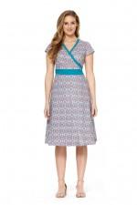Leela Cotton Wrap Dress - Bello Print