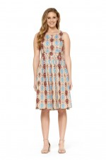 Jude Cotton 50's  A Line Dress - Halo Print