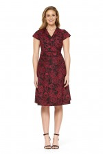 Astrid Cotton Wrap Dress - Remo Print