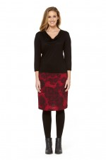 Maggie Stretch Cotton Skirt - Moorish Print