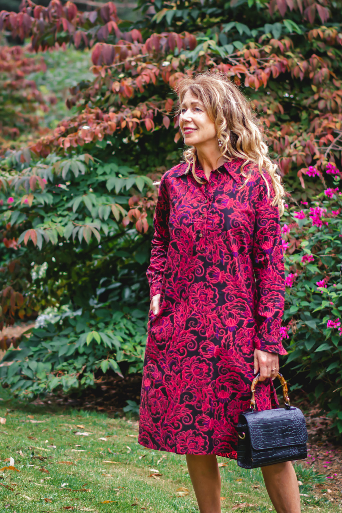 Anjali Cotton Shirtdress - Remo Print