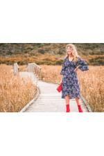New Nania Rayon Dress - Twilight Print
