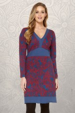 Origami Cotton Stretch Dress - Cadiz Print