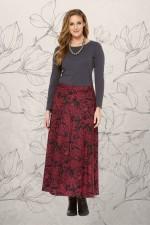 Grace Long Cotton Wrap Skirt - Remo Print