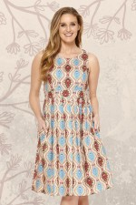 Jude Cotton 50's  A Line Dress - Halo Print