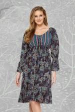 Ocean Midi Dress - Twilight Print
