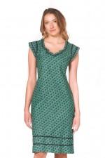 Cassy Cotton Braid Dress - Forest Print