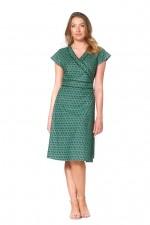 Astrid Cotton Wrap Dress - Forest Print