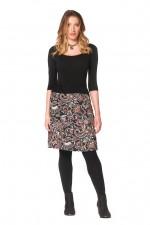 Maggie Stretch Cotton Skirt - Persian Print