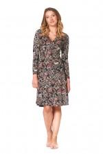 Sunburst  L/S Wrap Dress - Persian Print