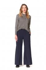 Sarita Cotton Pants - Navy