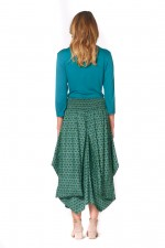 Freda Cotton Skirt - Forest Print