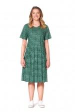 Harper Oversized Cotton Dress - Forest Print