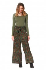 Nat Rayon Trouser with pockets-Twiggy Print