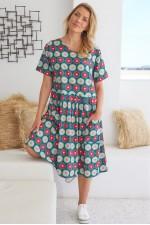 Harper Oversized Cotton Dress - Biba Print