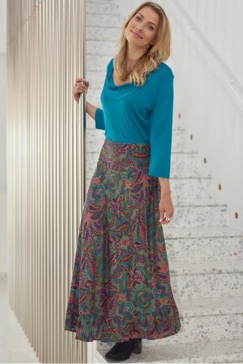 Gigi Frill Skirt -Swirl Print