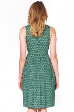 Jude Cotton 50's A-Line Dress - Forest Print