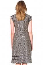 Cassy Cotton Braid Dress - Hatch Print