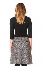 Melissa A-Line Cotton Skirt - Hatch Print