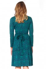 Sunburst  L/S Wrap Dress - Egypt Print