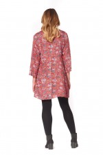 Annabell Rayon Dress with Bell Sleeves   - Sherbet Print