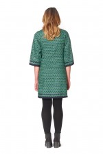 New Connie L/S Dress - Forest Print