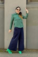 Saffie L/S Cotton Shirt - Forest Print