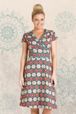 Astrid Cotton Wrap Dress - Biba Print