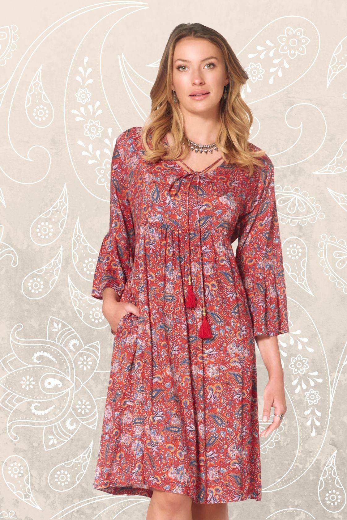 New Petra L/S Dress – Sherbet Print