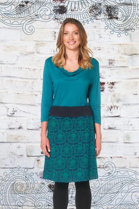 Maggie Stretch Cotton Skirt - Egypt Print